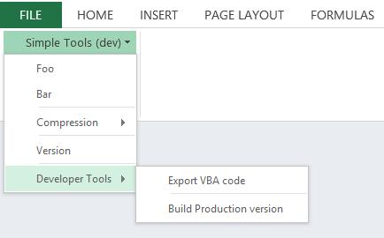 Developer Tools submenu