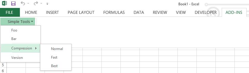 screenshot of Simple Toolkit menu