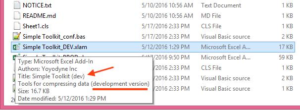 Development edition - file info